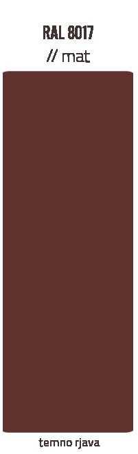 Barve kleparskih izdelkov – temno rjava mat