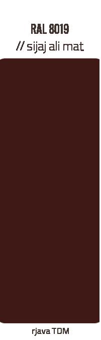 Barve kleparskih izdelkov – rjava TDM