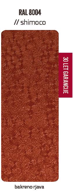 Premazni sistem SHIMOCO   30 let garancije   Barve - bakreno rjava
