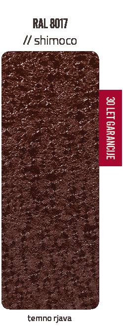 Premazni sistem SHIMOCO   30 let garancije   Barve - temno rjava