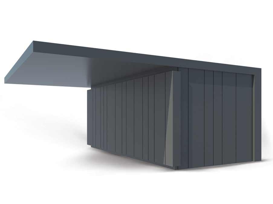 Premium Garaža z nadstreškom – Konstrukcije Petrovič