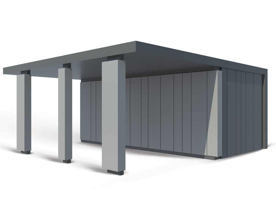 Premium Garaža z nadstreškom plus – Konstrukcije Petrovič