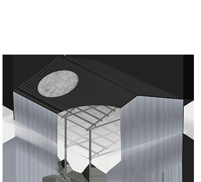 Montažne jeklene konstrukcije Petrovič – objekt zaščiten s filcem