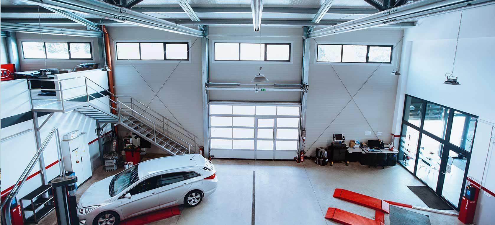 Jeklene konstrukcije za prodajne salone, servisne delavnice in garaže ter ostalo