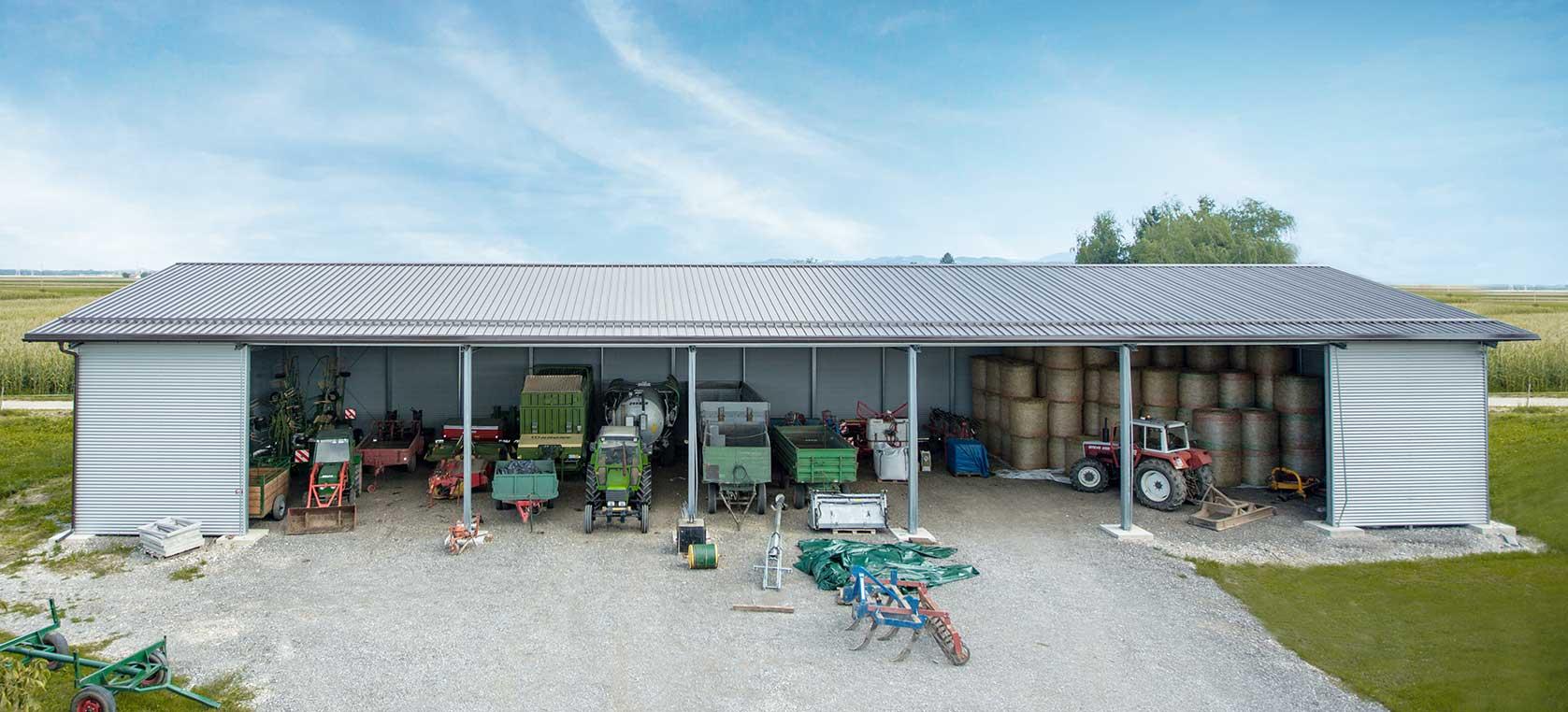 Kmetijski objekti, hlevi in skladišča iz robustnih jeklenih konstrukcij