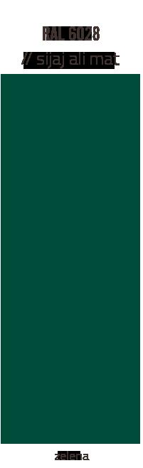 Barve strešnih kritin – zelena sijaj ali mat